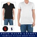 POLO RALPH LAUREN ポロラルフローレン / PLAIN V-NECK TEE WHT、BLK、NAV プレーン Vネック Tシャツ ホワイト、ブラック、ネイビー 定…