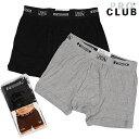 PRO CLUB プロクラブ / BOXER PANTS 2P PACK BLK/GRY ボクサー 2枚組 パンツ ブラック/グレー 無地 大きいサイズ ビッグサイズ ストリートファッション 定番アイテム XXL XL