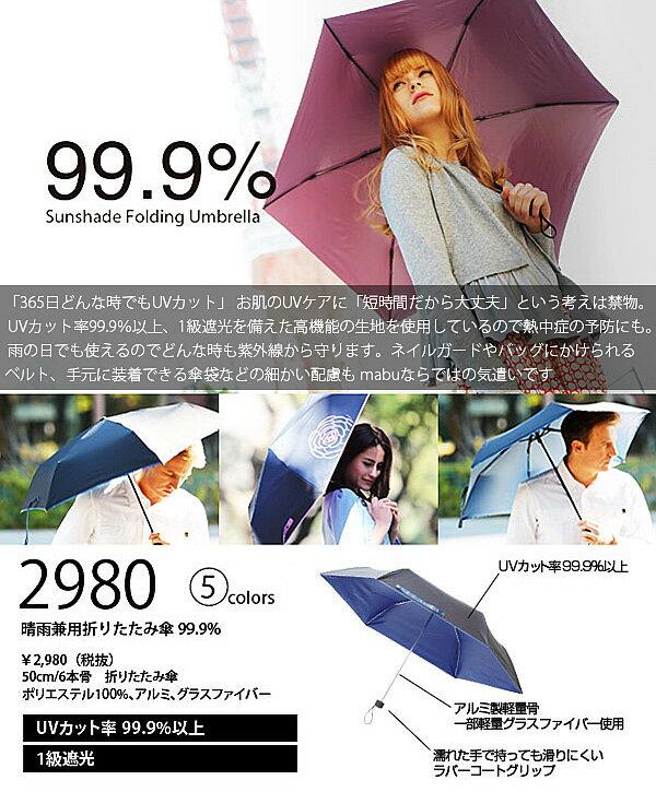あす楽 mabu マブ 晴雨兼用折りたたみ傘 ...の紹介画像2