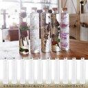 あす楽 ハーバリウム 円柱 ガラス瓶 200cc 10本セット キャップ付 透明瓶・円柱瓶 硝子ビン アーティフィシャルフラワー プリザーブドフラワー インスタ SNS インテリア 植物標本 ボトルフラワー 花の観賞