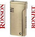 RONSON(ロンソン) バーナーフレームライター R29-0001 ブラスサテン RONJET(ロンジェット) ガスライター