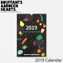 ブーファントアンドブロッケンハーツ 壁掛け カレンダー 2019 カレンダーBOUFFANTS AND BROKEN HEARTS BBH 2019 Calendarブランド デザイナーズ KD6748ギフト プレゼント