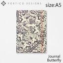 ポルティコデザイン ノート A5 ノートブック バタフライ PORTICO DESIGNS A5 Notebook Butterflyブランド デザイナーズ ステーショナリー UK イングランド GTPNB20ギフト プレゼント