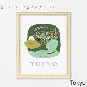RIFLE PAPER CO. ライフルペーパー Tokyo 東京アートプリント・ポスター ブランド デザイナーズ フレーム イン ポスター USA アメリカ APM007ギフト プレゼント