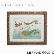 RIFLE PAPER CO. ライフルペーパー MERMAID GOLD S マーメイド ゴールド Sアートプリント・ポスター Sサイズ ブランド デザイナーズ フレーム イン ポスター USA アメリカ APM082-VINTAGE MERMAID Sギフト プレゼント
