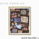 アートプリント・ポスター ライフルペーパー アリスフォーリング LRIFLE PAPER CO. Alice Falling L ブランド デザイナーズ フレーム イン ポスター Lサイズ USA アメリカ APM094ギフト プレゼント 父の日