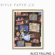 RIFLE PAPER CO. ライフルペーパー Alice Falling L アリスフォーリング Lアートプリント・ポスター Lサイズ ブランド デザイナーズ フレーム イン ポスター USA アメリカ APM094ギフト プレゼント