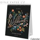 ライフルペーパー 卓上 カレンダー ワイルドウッド 2020 デスクカレンダー RIFLE PAPER CO. Wildwood 2020 DESK CALENDARカレンダー ブランド デザイナーズ USA アメリカ CAL051ギフト プレゼント
