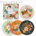 RIFLE PAPER CO. ライフルペーパー Coaster Set:Lively Floral コースター セット ラブリーフローラコースター ブランド デザイナーズ USA アメリカ COA007ギフト プレゼント