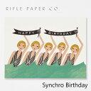 RIFLE PAPER CO. ライフルペーパー Synchro Birthday シンクロ バースデーグリーティングカード ブランド デザイナーズ カード USA アメリカ GCB013ギフト プレゼント