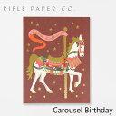 ライフルペーパー グリーティングカード カルーセル バースデー RIFLE PAPER CO. Carousel Birthdayブランド デザイナーズ カード USA アメリカ GCB043ギフト プレゼント