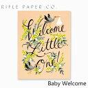 ライフルペーパー グリーティングカード ベビー ウェルカム RIFLE PAPER CO. Baby Wellcomeブランド デザイナーズ カード USA アメリカ GCK008ギフト プレゼント