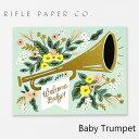 ライフルペーパー グリーティングカード ベビー トランペット RIFLE PAPER CO. Baby Trumpetブランド デザイナーズ カード USA アメリカ GCK016ギフト プレゼント
