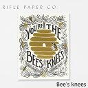 ライフルペーパー グリーティングカード ビーズニー RIFLE PAPER CO. Bee's kneesブランド デザイナーズ カード USA アメリカ GCL009ギフト プレゼント