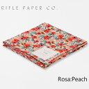 ライフルペーパー ハンカチ ローザ ピーチ RIFLE PAPER CO. Rosa Peachブランド デザイナーズ ハンカチクロス USA アメリカ HFC8004-001ギフト プレゼント