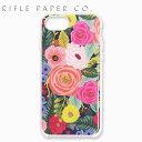 ライフルペーパー アイフォン ケース クリア ローズ アイフォン 6/7/8 RIFLE PAPER CO. Juliet Rose iPhone6/7/8ブランド スマホ ケース USA アメリカ PIC054-678ギフト プレゼント