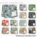 ライフルペーパー ハンカチ ワイルドウッド RIFLE PAPER CO. Wildwoodブランド デザイナーズ ハンカチクロス USA アメリカ 海外 RHC-Wildwoodギフト プレゼント 母の日