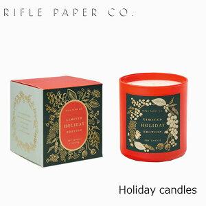 ライフルペーパー RIFLE PAPER CO. キャンドル CANDLE フレグランス ホリデー キャンドル Holiday candles クリスマスブランド デザイナーズ ディフーザー USA アメリカ 海外 CNDG006ギフト プレゼント 誕生日 お祝い 送料無料