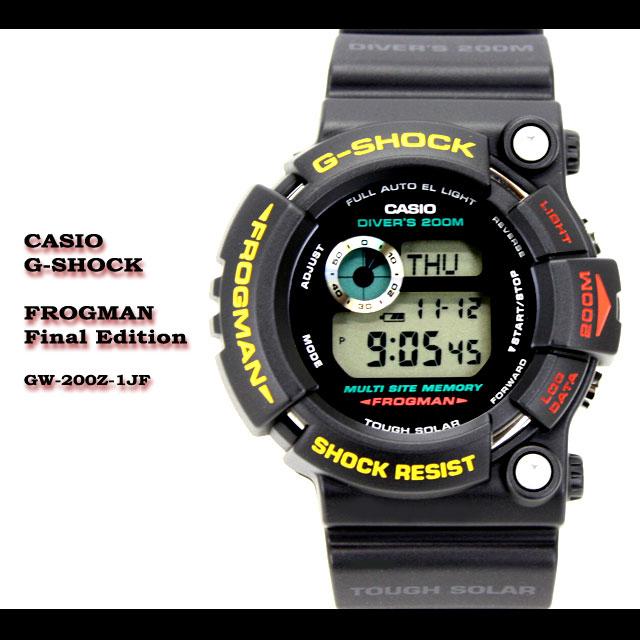 CASIO/G-SHOCK【カシオ ジーショック】FROGMAN【フロッグマン】Final Edition最終モデル GW-200Z-1JF 腕時計