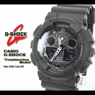 CASIO/G-SHOCK/g-shock g shock G shock G- shock [COMBINATION MODEL] combination watch /GA-100-1A1JF/matte black [fs01gm]