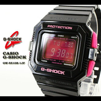 CASIO/G-SHOCK/G shock G- shock [MULTIBAND6/ multiband 6] radio time signal watch /GW-5510B-1JF/black/PINK [fs01gm]
