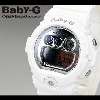 CASIO/G-SHOCK/g-shock g shock G shock G-shock Baby-G baby G women [DW-6900] BG-6900-7JF/white Lady's / watch [fs01gm]