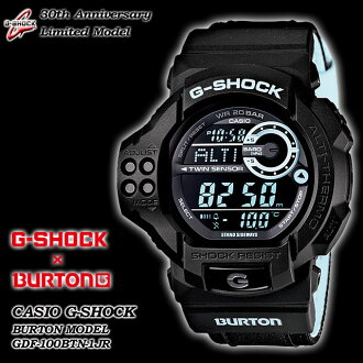 ★Domestic regular article ★ CASIO/G-SHOCK/G shock G- shock [willow oak ogee shock] 30 anniversary memory collaboration-limited model [G-SHOCK X BURTON] Burton watch / GDF-100BTN-1JR /black X blue [smtb-TK] [fs01gm]