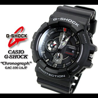 ◆ ◆ ◆ domestic genuine ◆ CASIO g-shock g-shock g shock G shock G-shock Chronograph Watch / GAC-100-1AJF/black