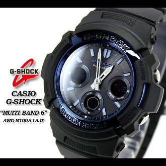 ★ ★ ★ domestic genuine ★ CASIO g-shock wave solar g-shock g shock G shock G-shock-multiband 6 watch AWG-M100A-1AJF/black