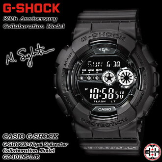 ★ domestic regular ★ ★ ★ CASIO/G-SHOCK / g-shock g shock G shock G-shock 30th anniversary commemoration special collaboration model watch / GD-101NS-1JR/ALL BLACK