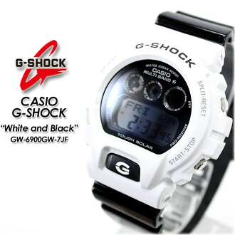 ★ domestic regular ★ ★ ★ CASIO/G-SHOCK g-shock g shock G shock G-shock white & Black series solar radio / radio solar watch / GW-6900GW-7JF