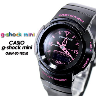 CASIO/G-SHOCK G-shock min g-shock mini for women Watch GMN-50-1B2JR/black/pink Lady's [fs01gm] for women