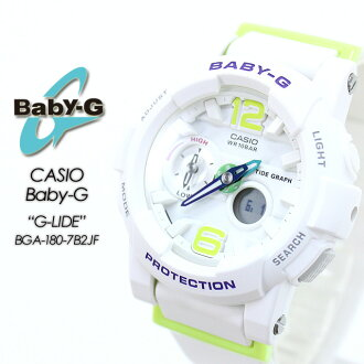 ★Watch CASIO G-SHOCK g-shock g shock G-Shock G- shock willow oak ogee shock for domestic regular article ★★★ baby G ジーライド BGA-180-7B2JF Lady's women