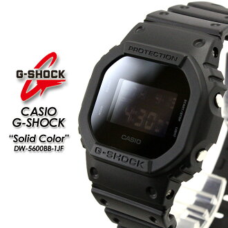CASIO/G-SHOCK/g-shock g shock G shock G- shock [Solid Colors] solid colors watch /DW-5600BB-1JF/matte back [fs01gm]