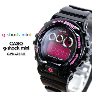 CASIO/G-SHOCKmini【カシオジーショックミニ】腕時計GMN-692-1JR/black&pink【h-point100423】