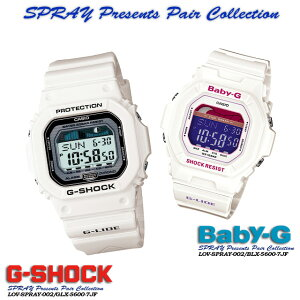 ����������ʡ������̵����CASIOG-SHOCK�ڥ�������������å���G����å�G−����å���SPRAYPresentsPairCollection�ۥ��ץ쥤�ץ쥼��ĥڥ����쥯�����SPRAY-002GLX-5600-7JF/BLX-5600-7JF�ӻ���PIC