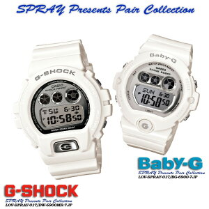 ����������ʡ������̵����CASIO/G-SHOCK/G����å�G−����å��ڥ�������������å��ۡ�SPresentsPairCollection��S�ץ쥼��ĥڥ����쥯������ӻ���/SPRAY-017DW-6900MR-7JF/BG-6900-7JF