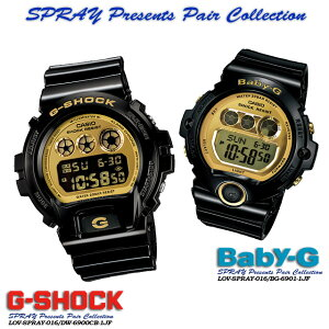����������ʡ������̵����CASIO/G-SHOCK/G����å�G−����å��ڥ�������������å��ۡ�SPRAYPresentsPairCollection�ۥ��ץ쥤�ץ쥼��ĥڥ����쥯������ӻ���/SPRAY-016DW-6900CB-1JF/BG-6901-1JFPIC
