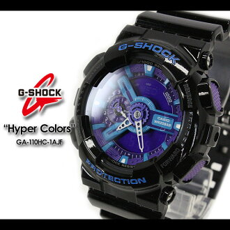 CASIO/G-SHOCK/G shock G- shock[Hyper Colors] hyper color Zushi Leeds Watch /GA-110HC-1AJF/black/purple [fs01gm]