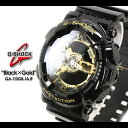 Free shipping  CASIO/G-SHOCK/g-shock g shock G-Shock G- shock black X gold series watch /GA-110GB-1AJF/black X gold