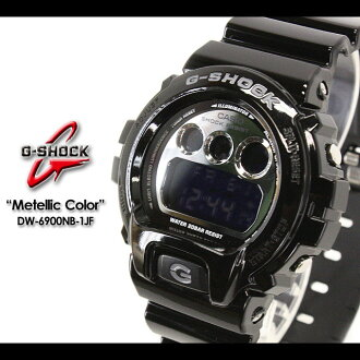 CASIO/G-SHOCK/g-shock g shock G shock G- shock [Metallic Colors] metallic color Zushi Leeds watch /DW-6900NB-1JF/black X silver [fs01gm]