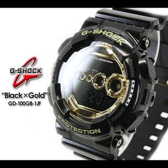 CASIO/G-SHOCK/g-shock g shock G shock G- shock [Black X Gold Series] black X gold series Watch /GD-100GB-1JF/black X gold [fs01gm]