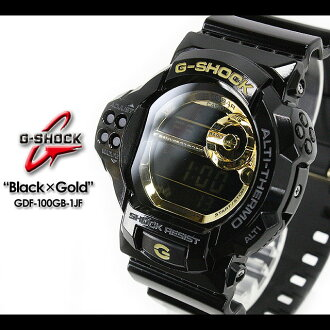 CASIO/G-SHOCK/G shock G- shock [Black X Gold Series] black X gold series Watch /GDF-100GB-1JF/black X gold [fs01gm]
