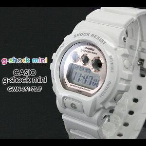 CASIO/G-SHOCKmini�ڥ�������������å��ۡ�G-����å��ߥˡ۽������ӻ���GMN-690-7BJF/white/pink
