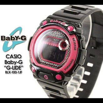 CASIO/G-SHOCK/g-shock g shock G shock G-shock Color Display Series/G-LIDE Baby-G baby G baby g women BLX-100-1JF/black, pink Lady's [fs01gm]
