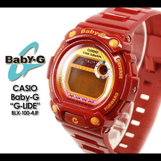 CASIO/G-SHOCK/g-shock g shock G shock G-shock Color Display Series/G-LIDE Baby-G baby G baby g women BLX-100-4JF/red Lady's [fs01gm]