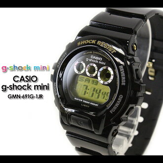 CASIO/G-SHOCK/G shock G- shock G- shock mini g-shock mini for women Watch GMN-691G-1JR/black Lady's [fs01gm]
