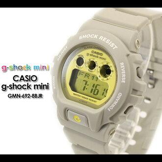 CASIO/G-SHOCK/g shock G shock G-shock G-shock mini g-shock mini women watch GMN-692-8BJR/ ice gray×yellow Lady's [fs01gm]