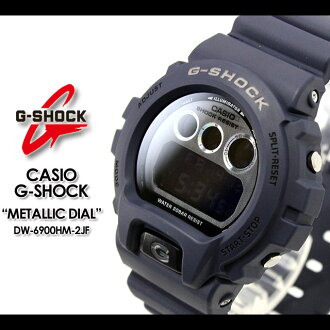 CASIO/G-SHOCK/g-shock g shock G shock G- shock [Metallic Dial Series] metallic dial series watch /DW-6900HM-2JF/navy [fs01gm]