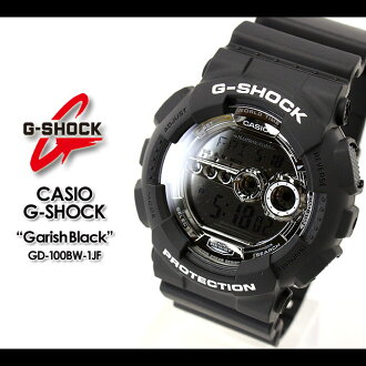 CASIO/G-SHOCK/g-shock g shock G shock G- shock [Garish Black (ガリッシュブラック)] watch GD-100BW-1JF/matte black [fs01gm]